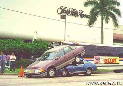один автомобиль поднырнул под другой