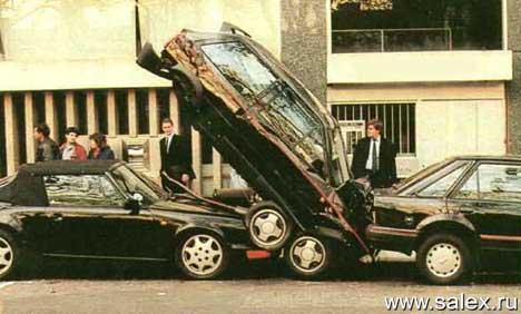 один автомобиль въехал под другой
