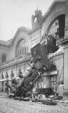 паровоз выехал в город со второго этажа вокзала