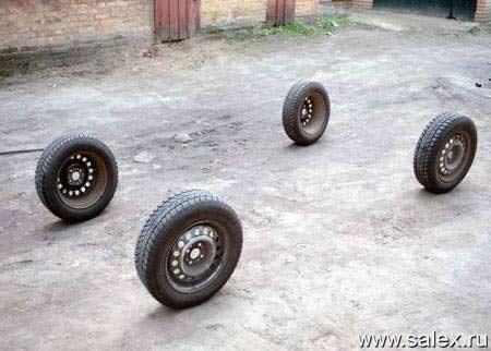 четыре колеса