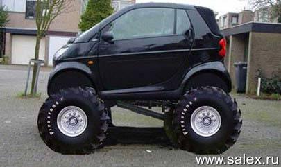 Smart с большими колесами