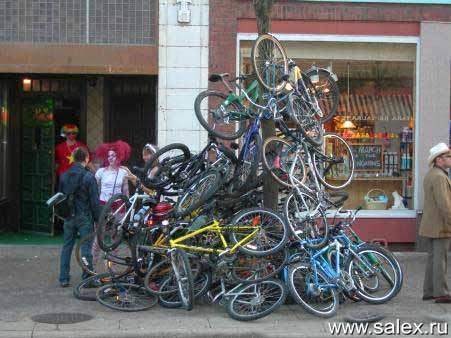 куча велосипедов