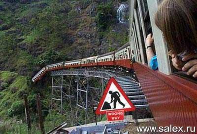 поезд на недостроенной дороге