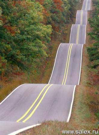 очень неровная дорога