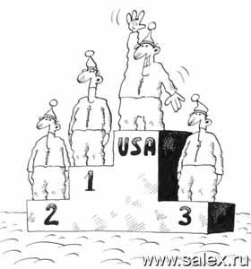 пьедестал для спортсменов из США