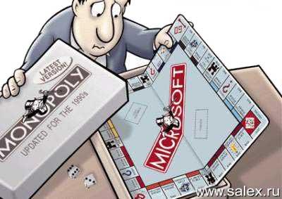игра монополия с надписью Микрософт