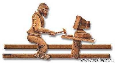 игрушка: мужик с молоточком бьет по клавиатуре