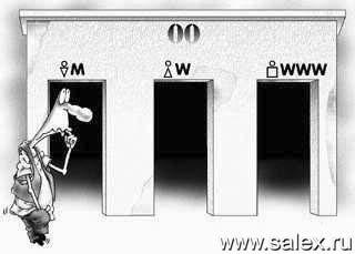 туалет: мужской, женский, всемирный (в сети Интернет все равны)