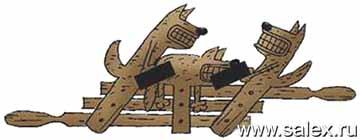 детская деревянная игрушка - жесткач...